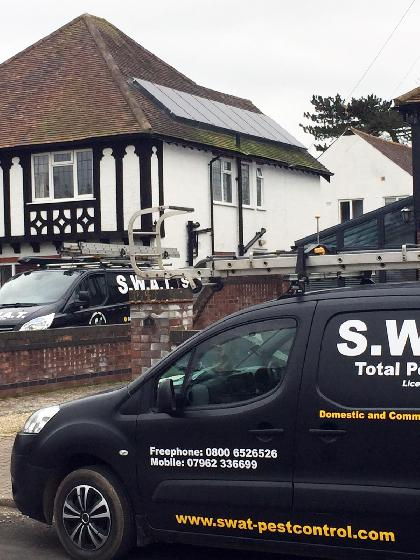 SWAT Pest Control Boston - Bird Proofing Solar Panels Arrival